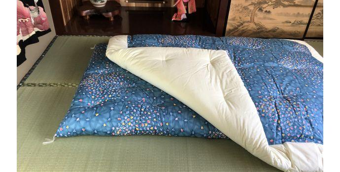 Ougi Blue Kakebuton Quilt